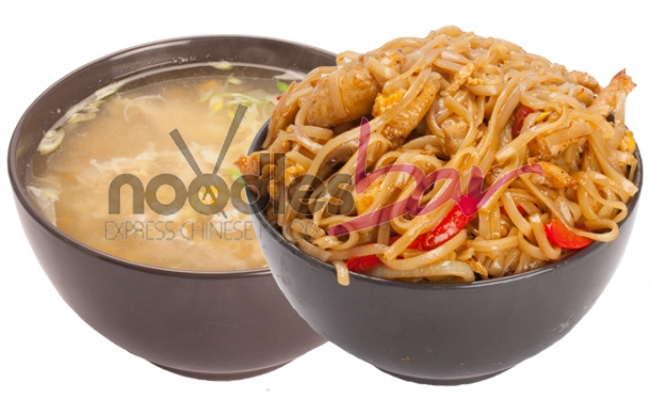 Meniu Thailandez 650g (Supa Porumb si Pui+ Thai Noodles pui si legume)